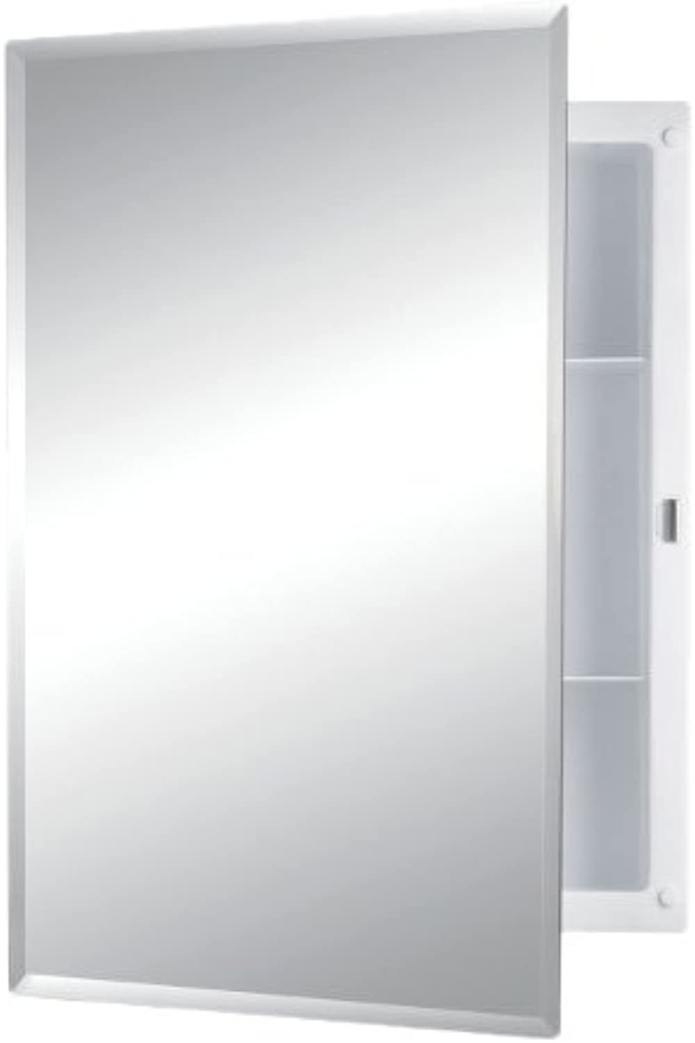 Jensen 781037 Builder Series Frameless Medicine Cabinet with Beveled Edge Mirror, 16-Inch by 22-Inch by 3-3 4-Inch