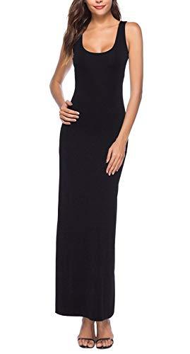 Damska sukienka maxi bez rękawów z dekoltem w łódkę Casual letnie długie sukienki Maxi sukienka bez rękawów