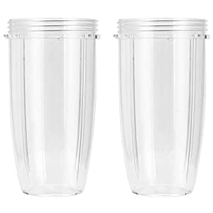 Replacement Cup for Nutribullet Replacement Parts 32oz for Nutri Bullet 600W and 900W, Pack of 2 |