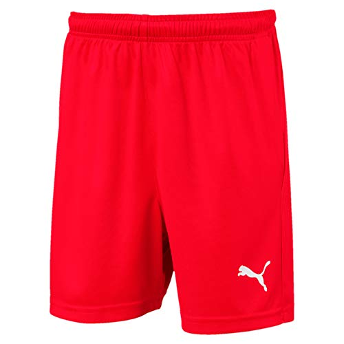 PUMA Kinder LIGA Core Shorts, Red White, 140