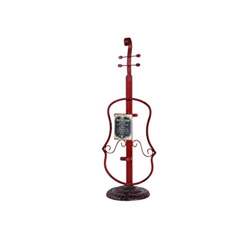 WUHUAROU Decoración para el hogar Chapado a Mano Estantes de Vino de violín Estilo Retro clásico Botellas de Vino de Metal de Bronce Decoración Estantes de exhibición Figuras (Color : B)
