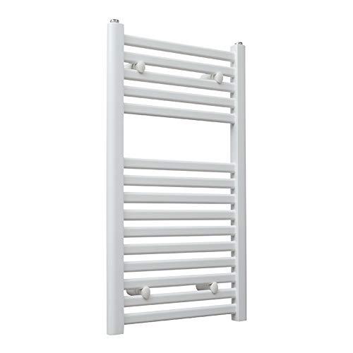 MTX-Racks handdoekverwarmer elektrische handdoekdroger, aan de muur bevestigde ladder voor stijlvolle badkamer, thermostaat en antraciet, wit modern design