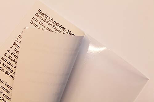 3-W-Hohenlimburg, Serie 2021, 5er Reparatur Pool Flicken, 15 x 15 cm - bei Löchern, Teich Folien, Poolflicken, Klebeflicken, Folie Reparaturfolie Reparieren v. Rissen, Schäden Poolfolie & Teichfolie