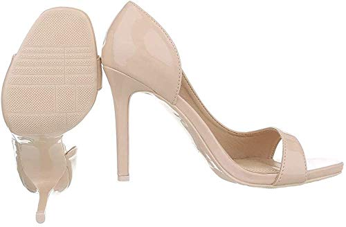 Ital-Design Damenschuhe Pumps High Heel Pumps Synthetik Beige Gr. 41