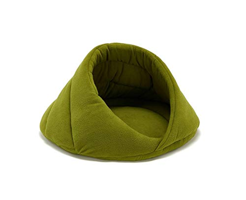 SZBTF Embracing Kennel Cat Bed Fleece Cat Cage Kennel Mat groen Rode wijn licht grijs Camel