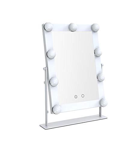 YYHSND Kosmetikkommode for Kosmetikspiegel mit LED-Glühbirnen Hollywood Style Makeup Mirror Dimmable Light Bulb White Wandspiegel