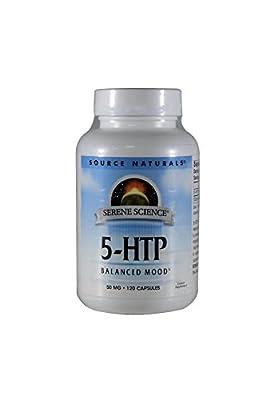 Source Naturals 5-HTP, 50mg, 120 Capsules (Pack of 2)