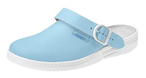 Abeba Clog 7081 - the original, Glattleder,hellblau/weiß, zertifiziert, 39