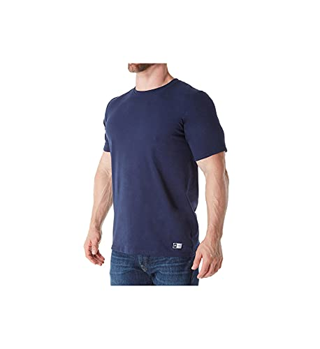 Russell Athletic mens Performance Cotton Short Sleeve T-Shirt, navy, 4XL