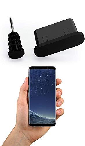 innoGadgets 10x Staubschutz Stöpsel für Smartphone, MacBook, Samsung Galaxy S8 S9 S10 S10e S20 | Schwarz
