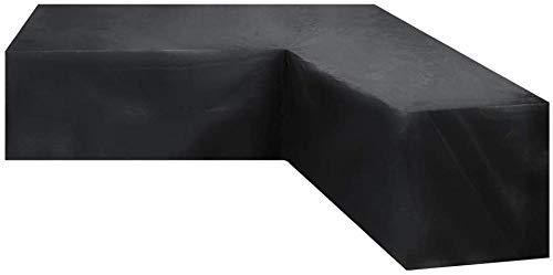 Cubierta de sofá seccional al Aire Libre Pesado 300x300cm Impermeable 600D Patio Sección de sofá Cubierta de césped en Forma de V-Funda de Muebles de patio-300x300x98cm Evolutions