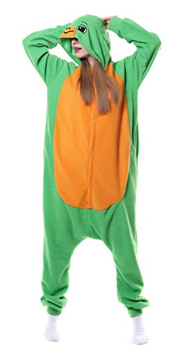 FunnyCos Unisex Tier Onesie Erwachsene Halloween Pyjama Cosplay Kostüm mit Kapuze Loungewear,Schildkröte M