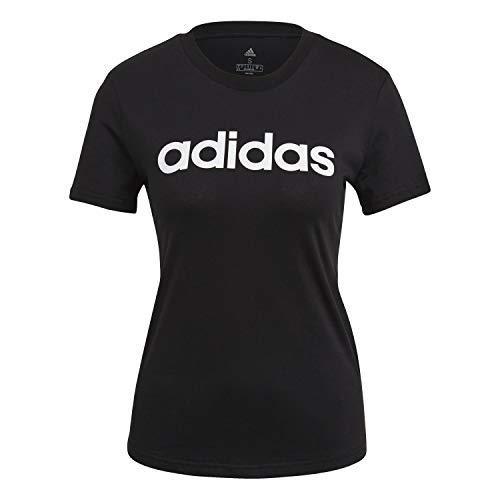 adidas GL0769 W Lin T T-Shirt Women's Black/White 2XL