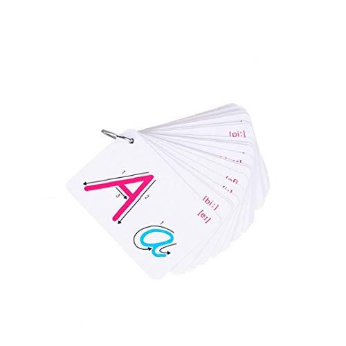Cartes Abc Flash Lettre De Reconnaissance Cartes Abc Apprentissage Cartes Toy Alphabet Pour Bébés, Enfants En Bas Âge, Pré-k Et La Maternelle Les Enfants 1set