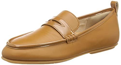 FitFlop Women's Loafer Flat, Light Tan, 5 -  DI4-592
