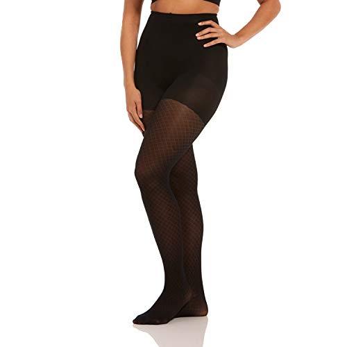 Magic Bodyfashion Damen Incredible Strumpfwaren, Schwarz (Diamond Legs 140), S