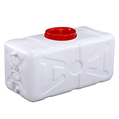 HWhome Espesar 200L Tanque De Agua,Blanco Cubo De Plástico,Torre De Agua Rectangular De Grado Alimenticio con Grifo para Almacenamiento De Agua Doméstico,Alimenticio Cubo De Purificación De Agua