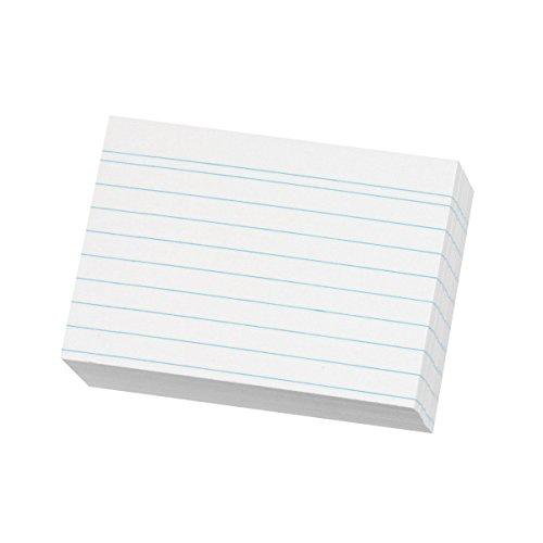 Herlitz 1150887 Karteikarte A8, liniert, 200 Stück, weiß