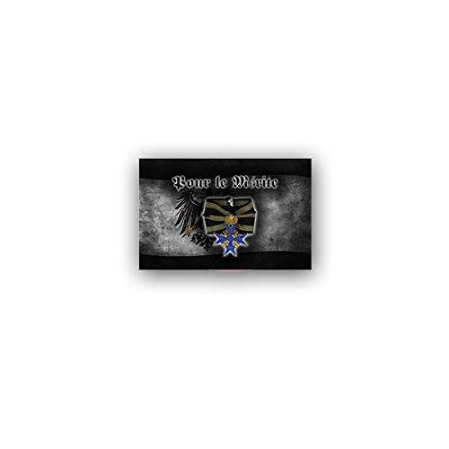Copytec Aufkleber/Sticker -Pour le Mérite Orden Verdienst Tapferkeitsauszeichnung Königreich Preußen Deutsches Kaiserreich Auszeichnung Abzeichen 9x7cm #A3243
