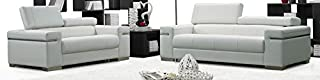 J and M Furniture 17655111-L-W Soho Loveseat in White Leather