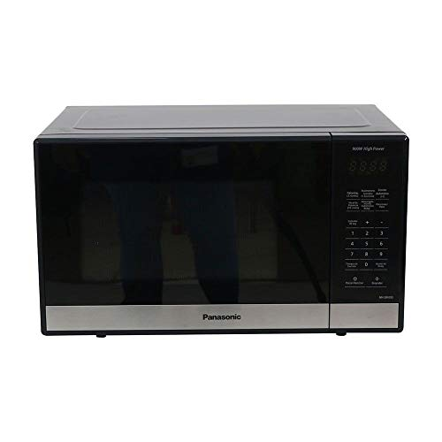 Panasonic NN-SB428SRUH Horno Microondas, 0.9 Pies, 900 Watts, Color Negro, panel digital