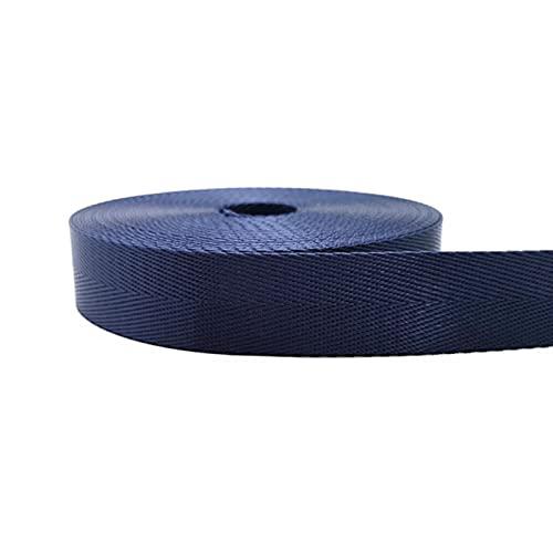 DTKJ 10 yardas (5 yardas x 2) 25 mm resistente de nailon con patrón de espiga de espiga, correa de bolsa accesorios