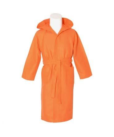 10XDIEZ Albornoz Microfibra Adulto Naranja - Medidas Albornoces - XXL (Super Super Grande)