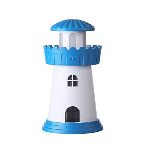 KUNXIAOY Faro humidificador Inicio Mini USB humidificador Creativo Noche humidificador Luz ultrasonidos purificador de Aire Noche de Luces humidificador