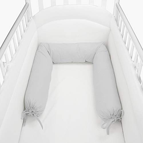 Babysanity–Réducteur de lit, forme boudin gris