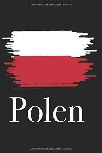 Polen - Notizbuch, Notizheft, 120 Seiten, 6x9, liniert, polnische Flagge, polnische Fahne, Warschau, für Polen Urlauber, für Wohnmobil-Reisende nach Polen