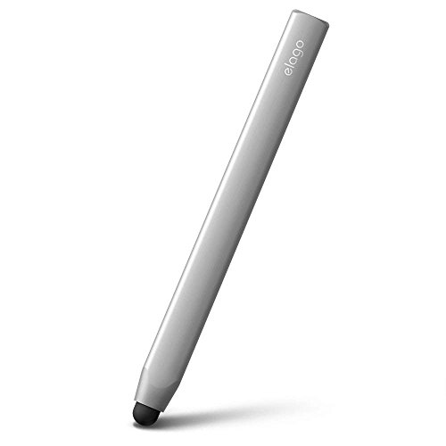 elago Premium Aluminum Stylus Pens Compatible with iPhone, iPad, Galaxy S series, Galaxy Tab, Kindle Fire for All Touch Screen Tablets/Cell Phones (Silver)