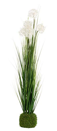 HANTRA Pusteblume XL (100cm) - Kunstpflanze Groß – Immergrüne Dekoration – Pflanze für Balkon – Innen und Außen - 3 Verschiedene Größen vorhanden