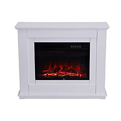 Electric Fire Heater Electrical Fireplaces with Remote Control Flame Effect, Temperature Adjustment