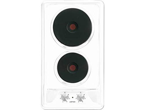 Plaque Electrique 2 feux-Airlux AT320WH - Plaque de cuisson Electrique - Dimensions produit (LxP en cm) : 29 / 51