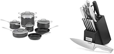 Cuisinart Contour Hard Anodized 13-Piece Cookware Set,Black