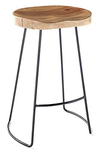 Vintage designer kitchen pub bar stool 70cm High White Black Copper (Black Frame)