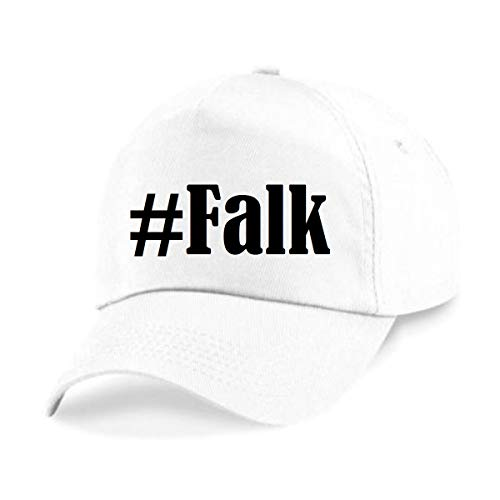 Reifen-Markt Base Cap Hashtag #Falk Größe Uni Farbe Weiss Druck Schwarz