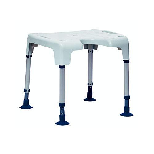 Sedia Doccia - Invacare Aquatec Pico - Sgabello Bagno per Anziani - Seduta con Piedini a Ventosa Antiscivolo - Altezza Regolabile - Bianco