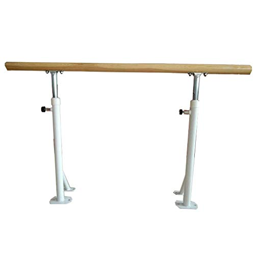Wall Sculptures Ballet Equipment Wood Ballet Barre Ballet Fitness Stretch Dance Bar Ballet Barre Portable for Home Adults and student Adjustable Ballet Barre White Double Ballet Bar