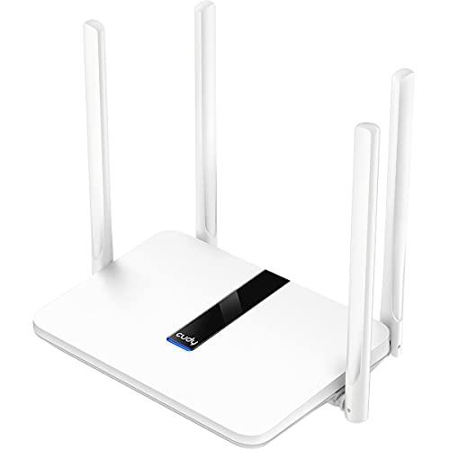 Cudy LT450 AC 1200 Mbit/s WiFi 4G LTE Router, 150 Mbit/s LTE-Download, WLAN 300 Mbit/s (2,4 GHz) + 867 Mbit/s (5 GHz), LAN/WAN-Port, DDNS, VPN, WireGuard, SIM Stecker und abspielen