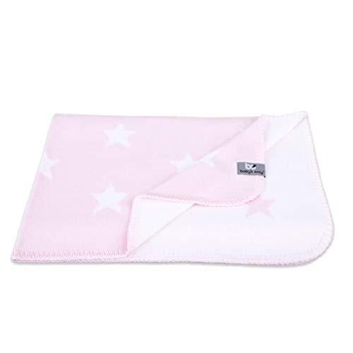 BO Babys Only - Ledikantdeken Star - Baby Roze/Wit - 100x135 cm