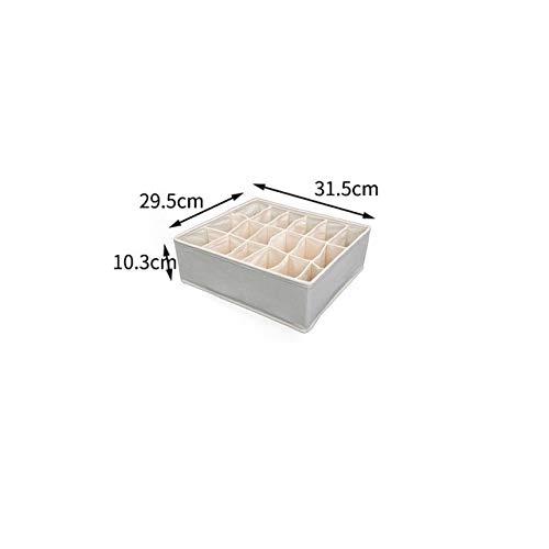 RYBJH Schublade Aufbewahrungsbox Coset Finishing Box für Zuhause Oder Auf Reisen Frauen Männer Handtuch Hut Unterwäsche BH Schals Socken Sortierung Veranstalter Tasche18 Gitter