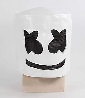 DJs Marshmello Helmet Music Festival Marshmallow Head Mask Novelty costume Party Rubber Latex Mask White