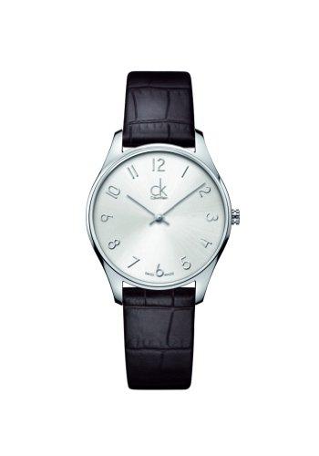 Calvin Klein  K4D221G6, Reloj Quarz para Mujer, con Correa de Cuero, Negr