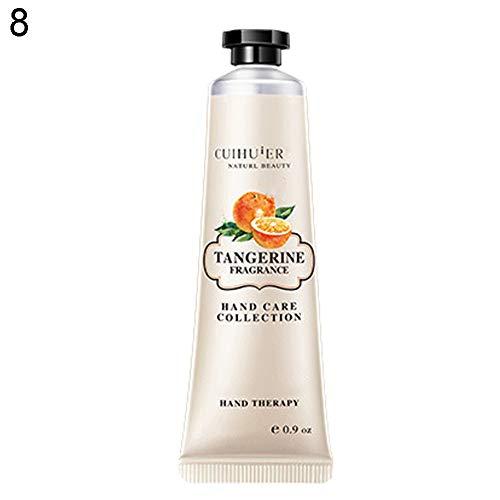 Crema Mani clifcragrocl, 30g Winter Hand Care Crema nutriente Idratante Crema profumata Profumazione regalo - Tangerine