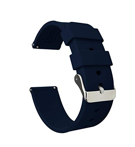 20mm Navy Blue - BARTON Watch Bands - Soft Silicone Quick Release Straps
