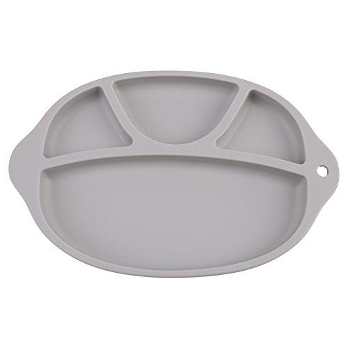 Placa de alimentación de silicona para bebés Base antideslizante Suave Platos de...