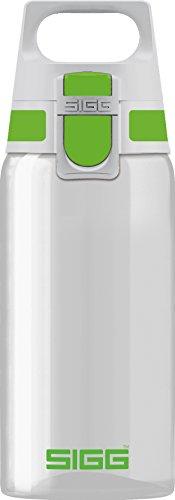 Sigg Total Clear ONE Green, Sport Trinkflasche, 0.5 L, Tritan, BPA frei, Grün
