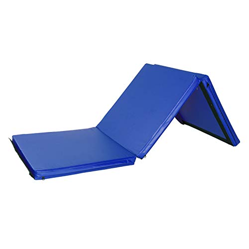 Gymnastics Mats,Folding Tumbling Mats Training Mats for Kids Thick Gym Exercise Mats for Gymnastics and Home Gym Protective Flooring (Blue, 55'x24'x1.2')