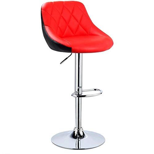 U de hoge stoel lift verstelbare barkruk, ontbijtrestaurantkruk keukenaanrecht hoge kruk kunstlederen optreden draaiende gaslift hoogte 60-80 cm barkruk belading 150 kg